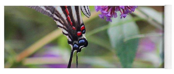 Zebra Swallowtail Butterfly On Butterfly Bush  Yoga Mat