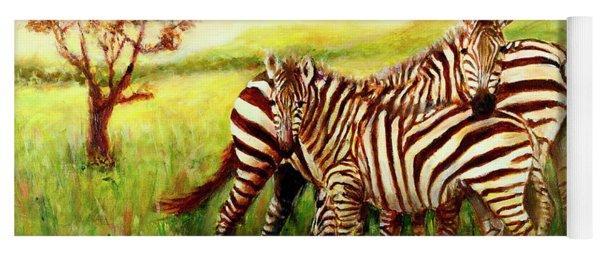 Zebras At Ngorongoro Crater Yoga Mat