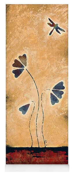 Zen Splendor - Dragonfly Art By Sharon Cummings. Yoga Mat