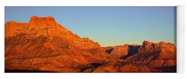 Zion National Park At Sunset, Utah Yoga Mat