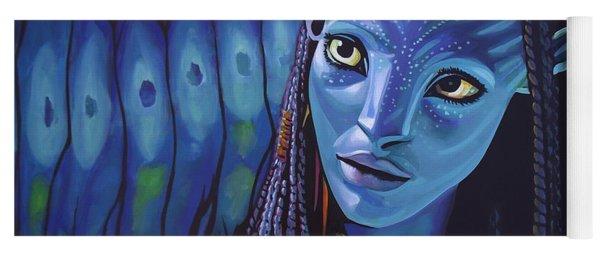 Zoe Saldana As Neytiri In Avatar Yoga Mat