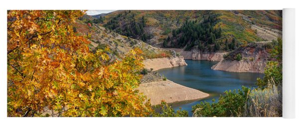 Autumn At Causey Reservoir - Utah Yoga Mat