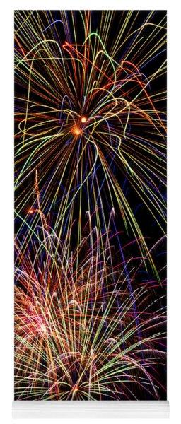 Fireworks Celebration Yoga Mat
