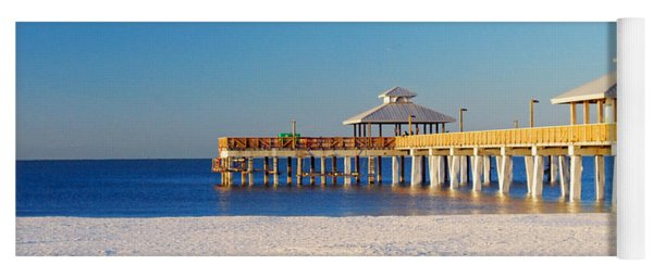 Fort Myers Beach Pier Yoga Mat