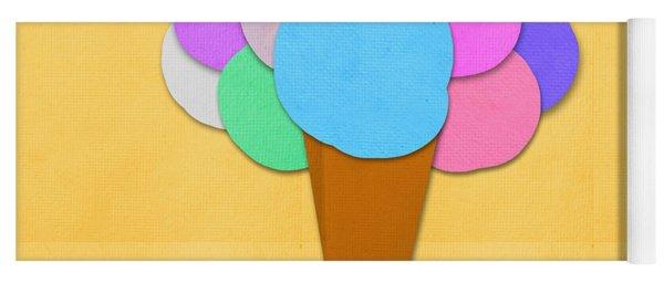 Ice Cream On Hand Made Paper Yoga Mat