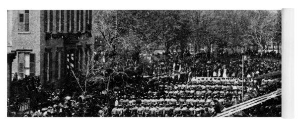 Lincolns Funeral Procession, 1865 Yoga Mat