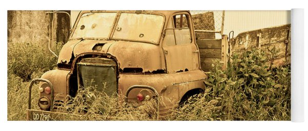 Old Abandoned Truck Yoga Mat