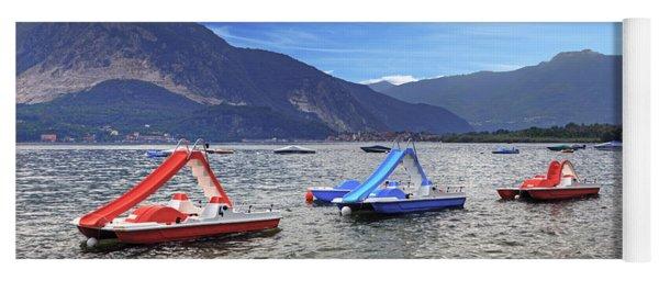 Pedal Boats On Lake Maggiore Yoga Mat
