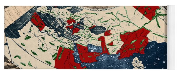 Ptolemy world map yoga mats fine art america ptolemys world map yoga mat gumiabroncs Gallery