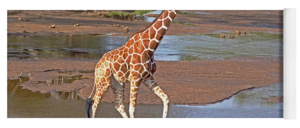 Reticulated Giraffe Yoga Mat
