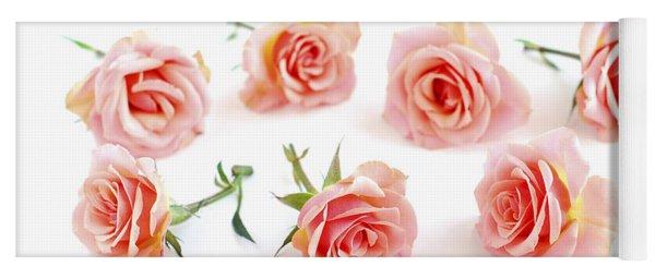 Rose Blossoms Yoga Mat