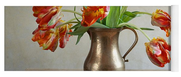 Still Life With Tulips Yoga Mat