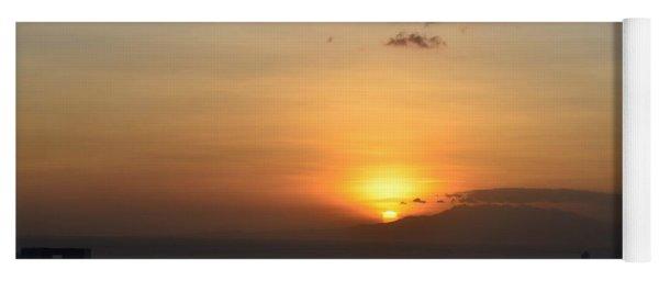 Sunset Upon The Ocean  Yoga Mat