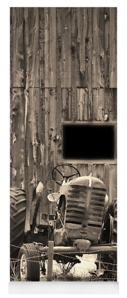 Tractor And The Barn Yoga Mat