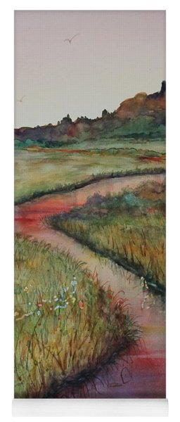 Yoga Mat featuring the painting Wetlands by Ruth Kamenev
