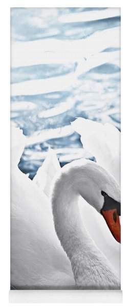 White Swan On Water Yoga Mat