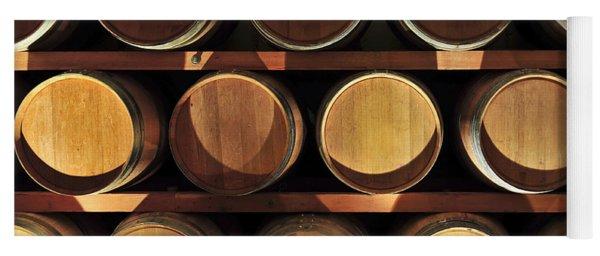 Wine Barrels Yoga Mat