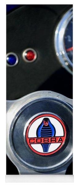 1965 Ac Cobra Steering Wheel Emblem 2 Yoga Mat