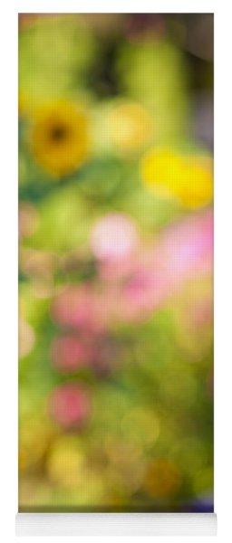 Flower Garden In Sunshine Yoga Mat