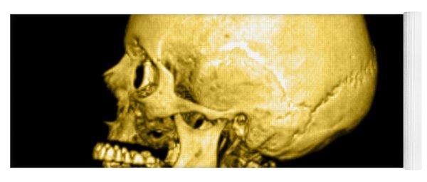 Human Skull Yoga Mat
