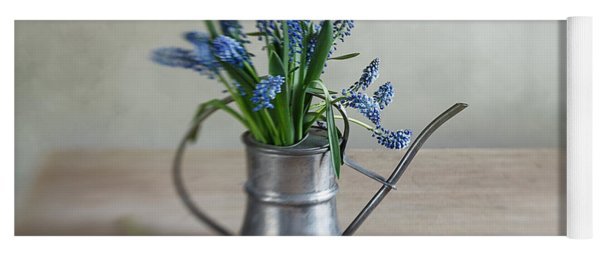 Still Life With Grape Hyacinths Yoga Mat