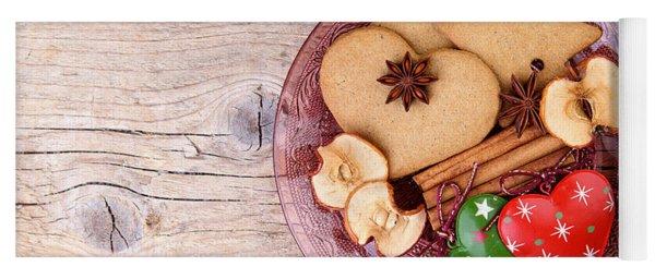 Christmas Gingerbread Yoga Mat