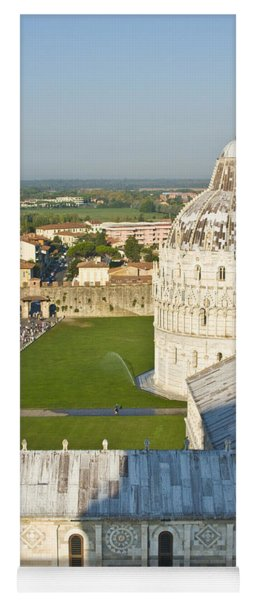 A View From The Bell Tower Of Pisa  Yoga Mat