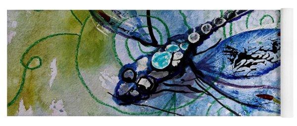 Abstract Dragonfly 10 Yoga Mat