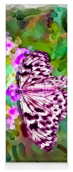 Almost Abstract Butterfly Yoga Mat