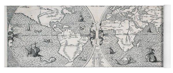 Antique World Map Yoga Mat