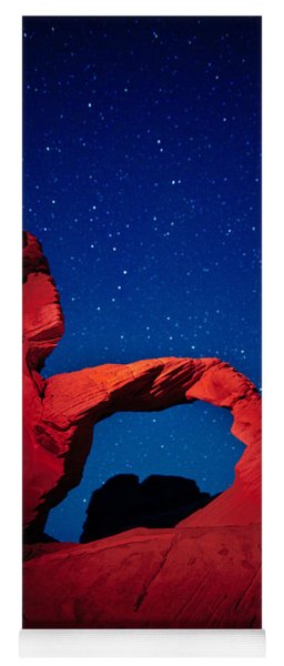 Arch In Red And Blue Yoga Mat