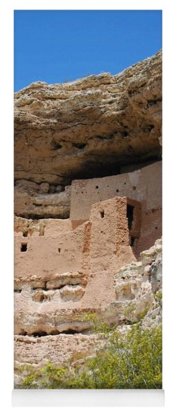 Yoga Mat featuring the photograph Arizona Cliff Dwellings by Judy Hall-Folde