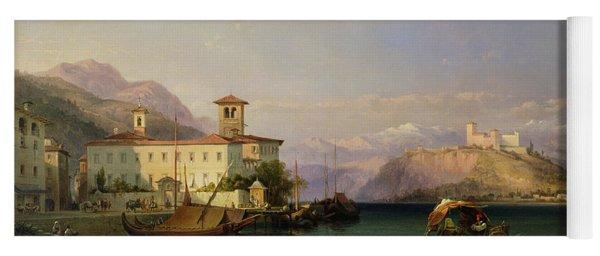 Arona And The Castle Of Angera Lake Maggiore Yoga Mat