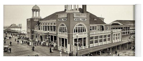 Atlantic City Steel Pier 1910 Yoga Mat