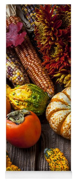 Autumn Still Life Colors Yoga Mat