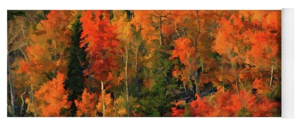 Autumn Water Colors  Yoga Mat