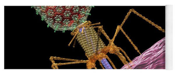 Bacteriophage T4 Injecting Yoga Mat