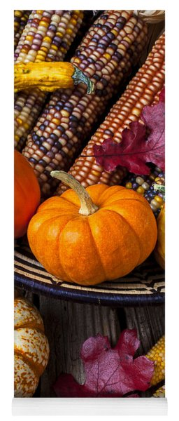 Basketful Of Autumn Yoga Mat