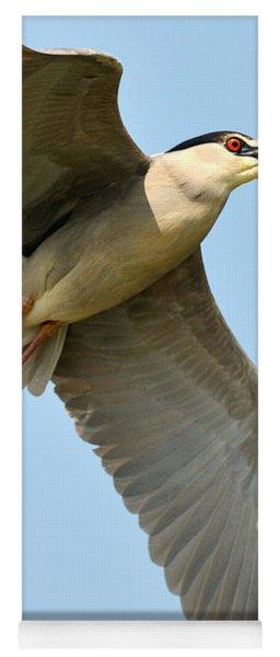 Black Crown Night Heron Yoga Mat