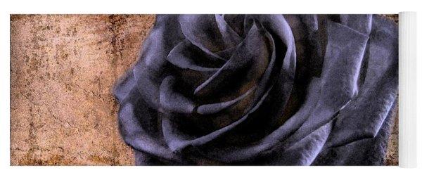 Yoga Mat featuring the photograph Black Rose Eternal   by David Dehner