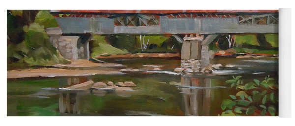 Blair Bridge Campton New Hampshire Yoga Mat
