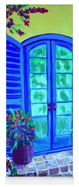 Blue Shutters Yoga Mat