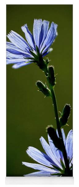 Blue Wildflower Yoga Mat