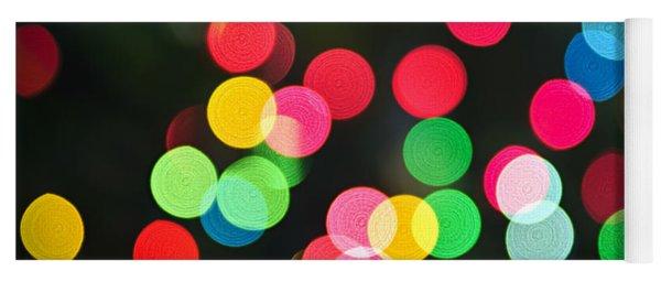 Blurred Christmas Lights Yoga Mat