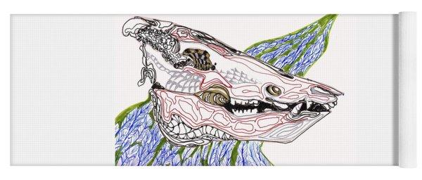 Boar Skull Ink Yoga Mat