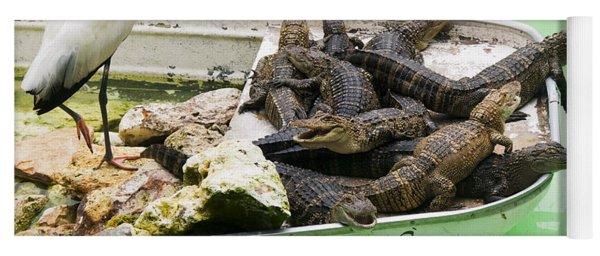 Boat Full Of Alligators  Yoga Mat