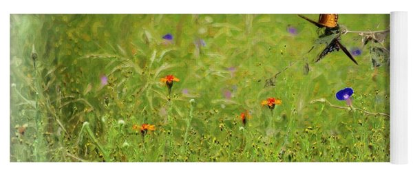 Butterflies Making Love In The Meadow Yoga Mat