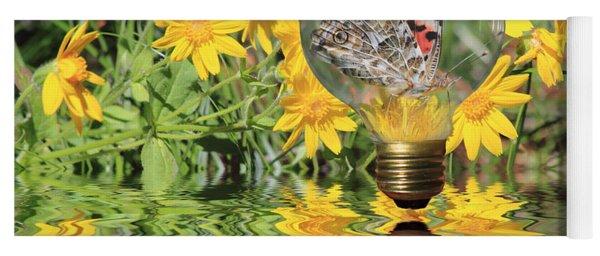 Butterfly In A Bulb II - Landscape Yoga Mat