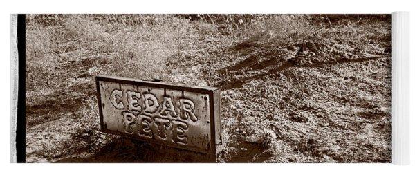 Cedar Pete Gravesite In Grafton Utah Yoga Mat