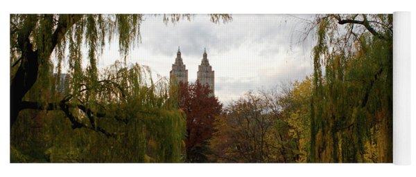 Yoga Mat featuring the photograph Central Park Autumn by Lorraine Devon Wilke